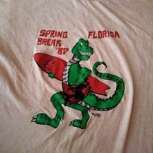 Vintage Spring Break Florida 87 Alligator Surfing